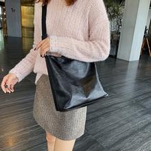 Wild Lady Shoulder Bag Solid Color Design Simple Pu Leather Square Large Pocket Luxury Casual Ladies Handbag Shopping