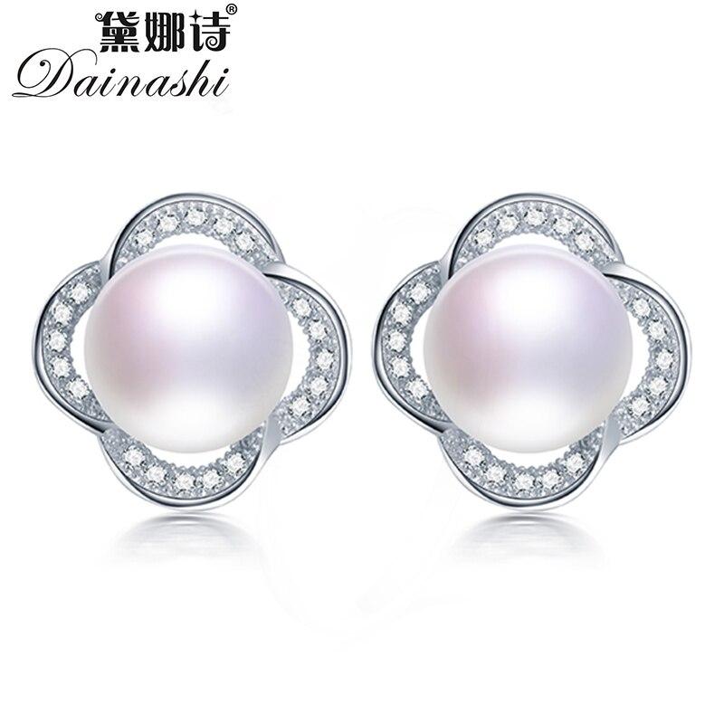 AAAA White Cultured Freshwater Pearl 925 Stamped Sterling Silver Stud Earrings