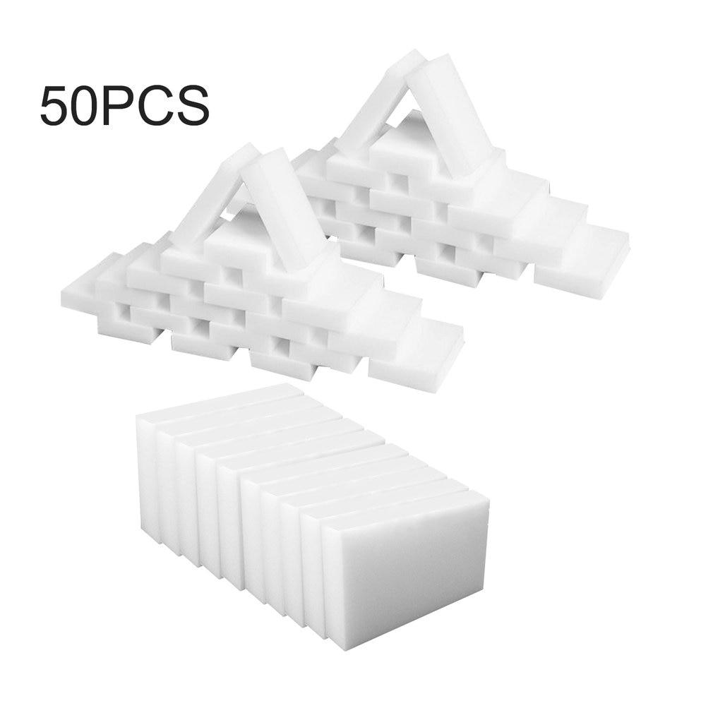 100pcs/lot White Magic Sponge Cleaner Eraser Multi-functional Cleaner Melamine Sponge For Kitchen Bathroom Cleaning 100x60x15mm