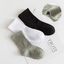 Baby Socks Spring Girls Boys School 5-Pairs Children White Black Autumn Gray Cotton Sport-Clothes