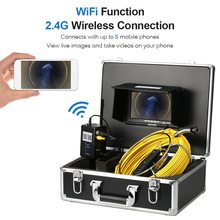 Lixada 7 Inch Wireless WiFi 20/30/40M Pipe Inspection Camera Drain Sewer Pipeline Industrial Endoscope with Meter Marking 40m cable pipeline sewer inspection camera with keyboard dvr function endoscope cmos lens waterproof night version cctv system