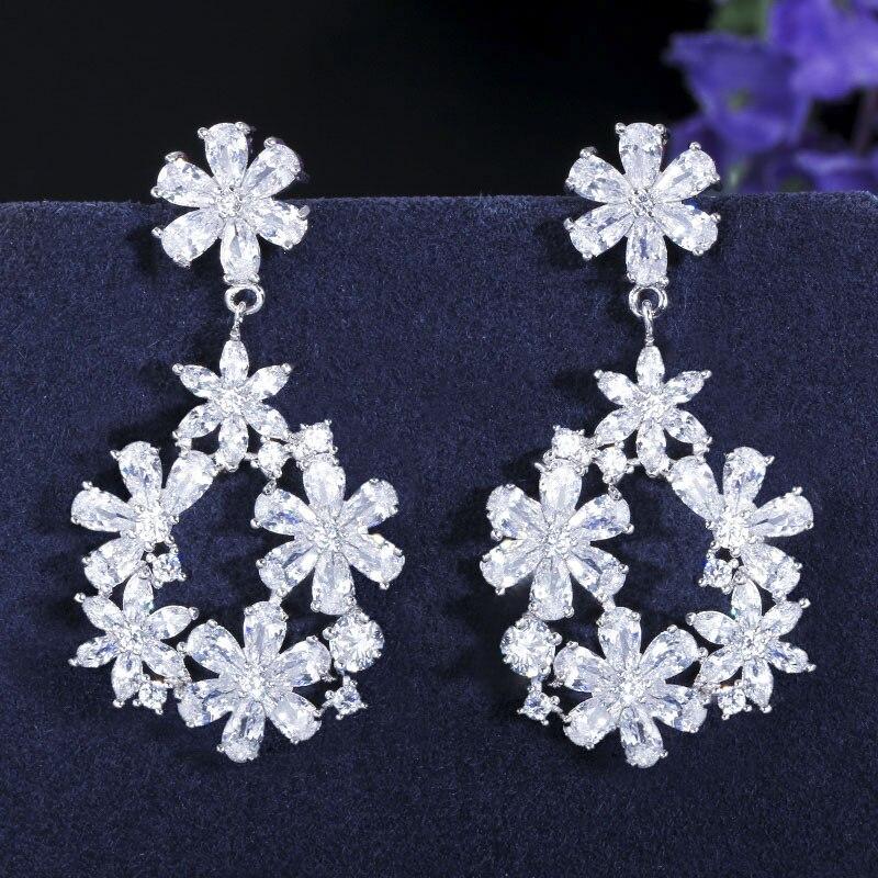 Модные Цветные Серьги с кристаллами в виде цветов, S925 Серебряные серьги, серия Sen Super серьги Immortal для женщин, ювелирные изделия