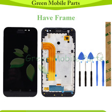 100% Tested LCD For ASUS Zenfone Go ZB500KL X00AD LCD Display With Touch Screen Assembly For ZB500KL LCD for asus s400 touch lcd assembly b140xw03 14 0 lcd assembly fully tested free shiping