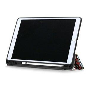 Image 4 - Folding Smart Case for Coque iPad 7 Gen 10.2 Folio Case iPad 10.2 2019 Cover Pen Holder for iPad 7th Gen Case A2200 A2198 A2232
