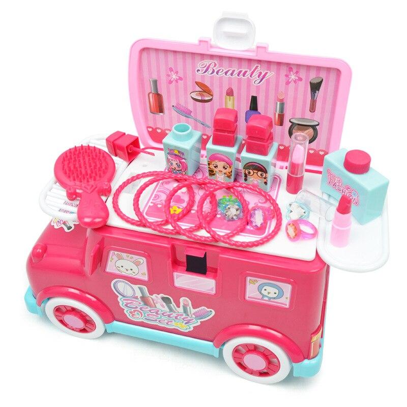 Simulé Table de maquillage semblant jouer beauté mode jouets filles jouer jouets éducatifs Simulation coiffeuse maquillage jouet ensemble
