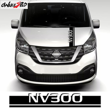 Car Hood Bonnet Stripes Auto Engine Cover Decor Sticker For Nissan Nv300 MPV Sport Stripe Vinyl Decals Exterior Accessories