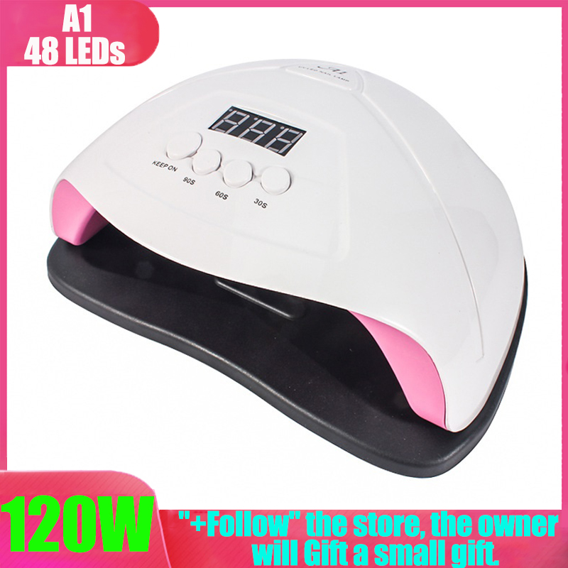 UV Lamp 120W Hybrid LED Lamp Ice Lamp For Manicure LCD Display Drying All Gels Nail Polish Nail Art Tools Uf Led Gel Nail Lamp