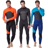 Men's Full Body Wetsuit, 3mm Men Neoprene Long Sleeves Dive Suit Perfect For Swimming/Scuba Diving/Snorkeling/Surfing Orange