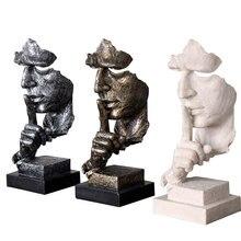 Décoration artistique abstraite, ameublement, le Silence est en or, Sculpture européenne Vintage, résine, artisanat de décoration, Figurines