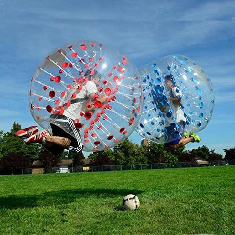 Divertimento all'aria aperta e sport 1.5m 0.8 millimetri Gonfiabile Del Respingente Football Corpo Zorbing Bolla Pallone Da Calcio Umani Bouncer giocattolo palle - 3