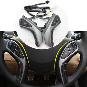 Image 1 - Hohe qualität Für 2012 2013 2015 Hyundai Elantra Multifunktions lenkrad taste Bluetooth Audio kanal und tempomat