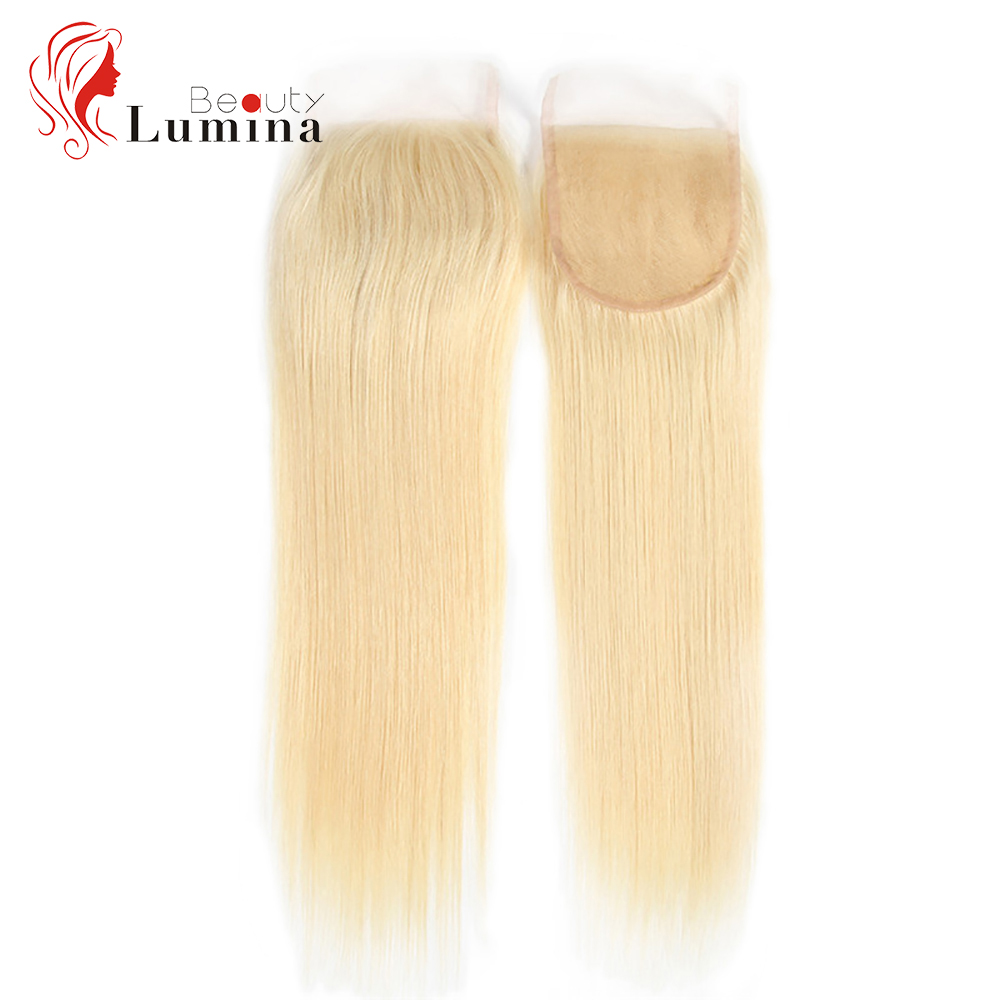Brazilian Straight Hair 4x4 Lace Closure With Baby Hair Hand Tied 613 Blonde 13x4 Lace Frontal Remy Hair Extension 130 Density
