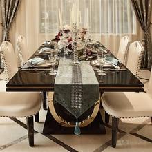 Muebles modernos de lujo de mesa de comedor de color dorado y negro