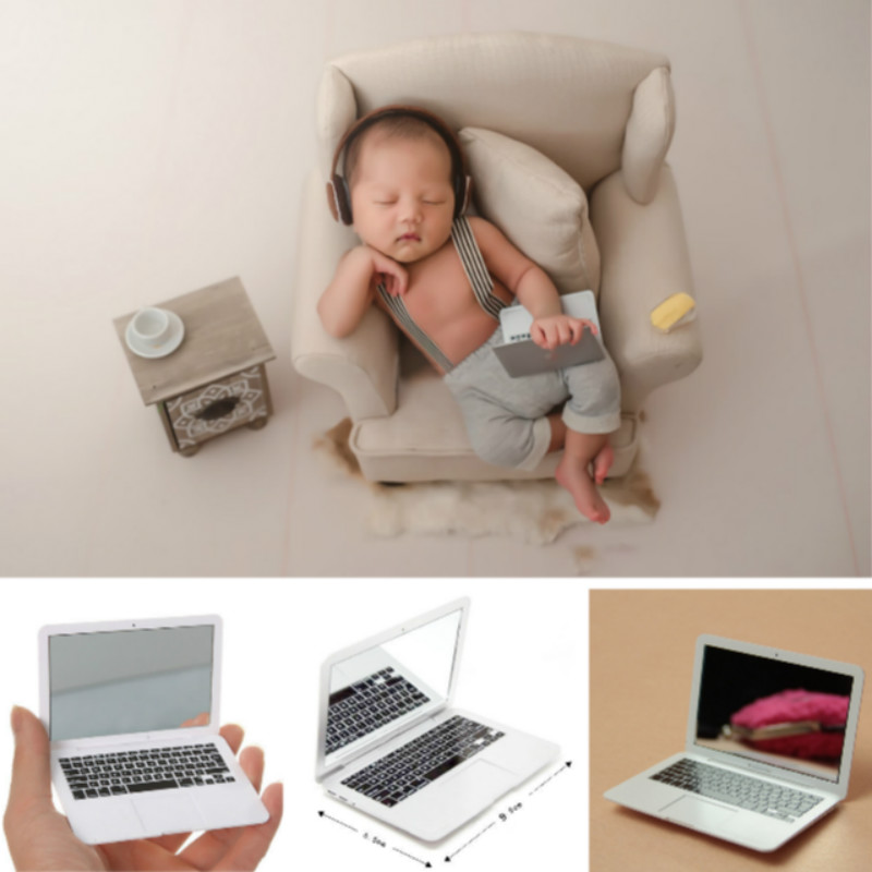 Baby Photography Props Mini Laptop Infant Shoot Accessories Creative Props Baby Photo Shoot Small Props Studio Novel Decorations