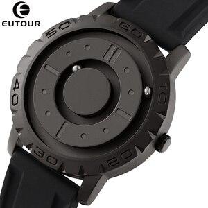 EUTOUR мужские часы, новый дизайн, магнитные металлические бусины, циферблат, вращающийся стол с мячом, минималистичные простые часы, кварцевы...