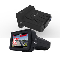 Karadar 1080P 3 In 1 Car Gps Anti Radar Detector DVR Video Recorder Desh cam Camera Russian Voice IPS 3 Inch Display 140 Degree