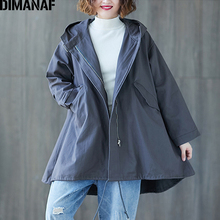 DIMANAF Plus Size Women Bomber Jackets Coats Big Autumn Winter Zipper Casual Female Outerwear Hooded Loose Thicken Clothing