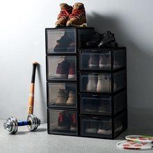 Transparent Shoes Box Detachable Folding Storage Cabinet Rack Home Decor dustproof organizer box superimposed combination shoe