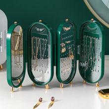 4 drzwi pudełko do przechowywania biżuterii kolczyki stojak bransoletka Organizer na naszyjniki składane przenośne plastikowe pudełko 240 otwory duże tanie tanio CN (pochodzenie) XD066 Z tworzywa sztucznego Ekologiczne Na stanie Skrzynki i pojemniki 65 alpine cukru Nowoczesne Błyszczący