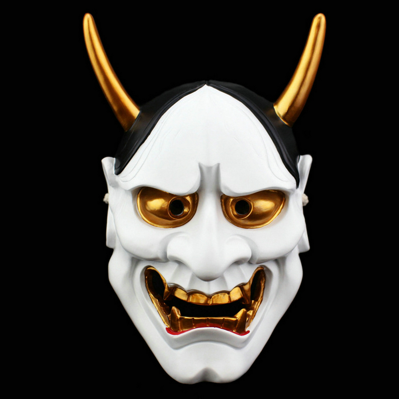 Image 3 - High Quality Halloween Horror Cosplay Mask Buddhism Prajna Ghost  Traditional Hannya Mask Japanese Theme Party Resin MaskParty Masks   -