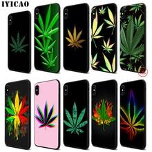 IYICAO Art high weed Luxury Soft Black Silicone Case for iPhone 11 Pro Xr Xs Max X or 10 8 7 6 6S Plus 5 5S SE стоимость