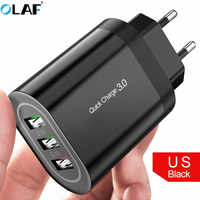OLAF 3U Quick Charge 3.0 USB Charger QC3.0 Fast Charging Multi Charger for Samsung S10 Xiaomi Mi9 Travel Wall Phone USB Charger