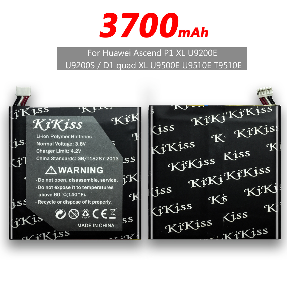 free tool 3700mAh Phone Battery For Huawei Ascend P1 XL U9200E U9200S /D1 quad XL U9500E U9510E T9510 HB5Q1HV + Tracking Number(China)