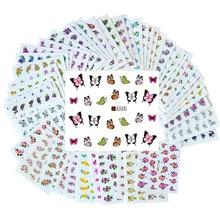 Внешняя торговля ebay горячие продажи наклейки для ногтей оптом водяные наклейки для ногтей маникюра Цветочные наклейки 50 один случай разный