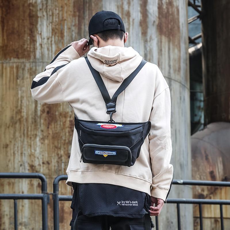 New Style Casual Men Bag Korean-style Fashion Chest Bag Cool Contrast Color Shoulder Bag Outdoor Sport Waist Bag Shoulder Bag