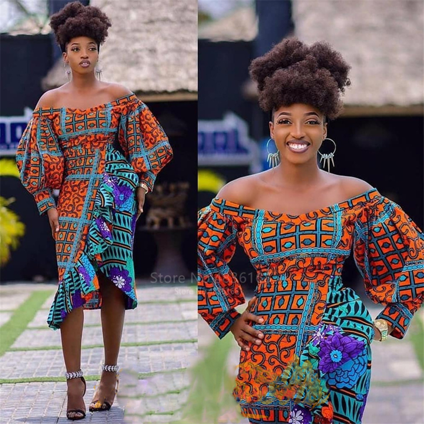 African Clothes 2019 News Ladies Dashiki Print Autumn Plus Robe Africaine Lantern Long Sleeve African Dresses For Women Vestido