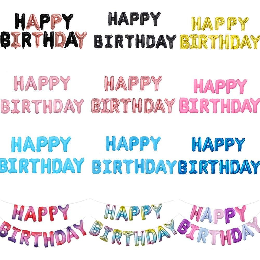 16 Inch Letters Gelukkige Verjaardag Gouden Folie Ballon Happy Birthday Kids Alfabet Air Ballonnen Baby Shower Benodigdheden