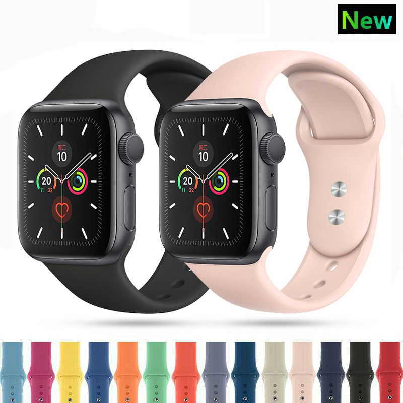 Kayışı apple İzle 5 4 bant 44mm 40mm iwatch 3 2 1 band 42mm 38mm correa apple izle bilezik watchband aksesuarları