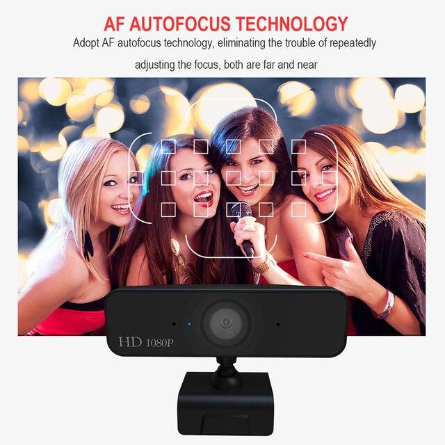 USB Web Camera 1080P HD 5MP Messa A Fuoco Automatica Fotocamera Del Computer Webcam Built-In fonoassorbente Microfono 1920*1080 Risoluzione dinamica 4