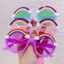 Round Sunglasses Kids Rainbow Sun Glasses Girls Children Colorful Eye Lenses Baby Shades Boys Yellow Eyeglasses Driver Goggles