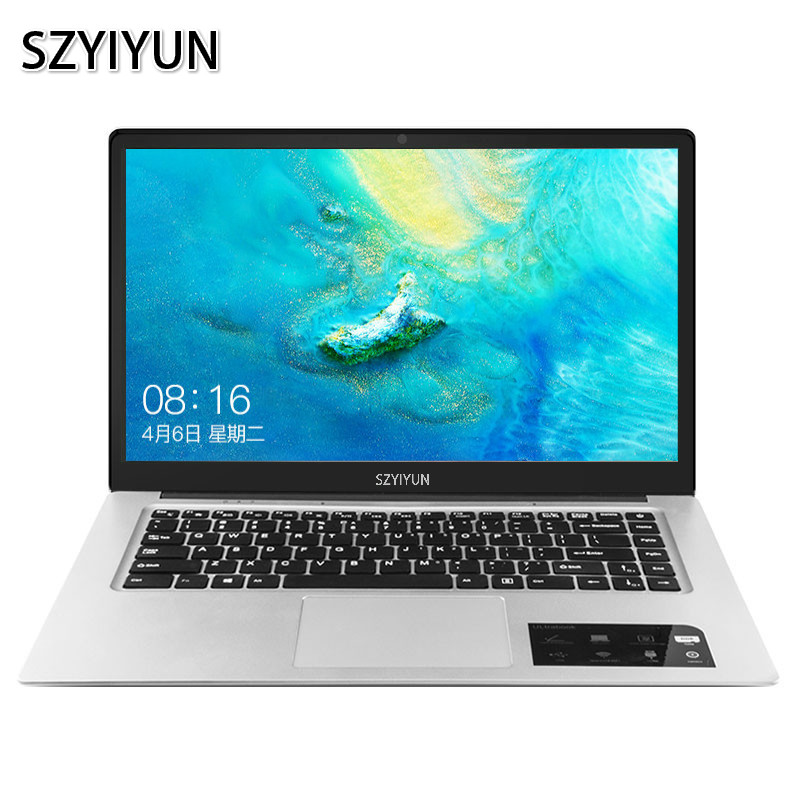 J3455 15.6 Inch Intel Laptop 6G RAM Portable Business Office Notebook Computer 1920*1080P 128G 256G 512G 1024G Working Netbook