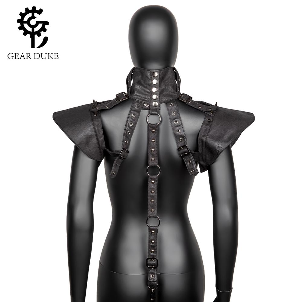 Gear Duke Steampunk Leather Armor Shawl Cape Shrug Halloween Cosplay Costumes For Both Men And Women - Adjustable
