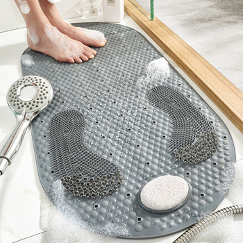 New style PVC toilet bathroom non-slip mat household bathroom grind stone floor mat shower room massage foot mat