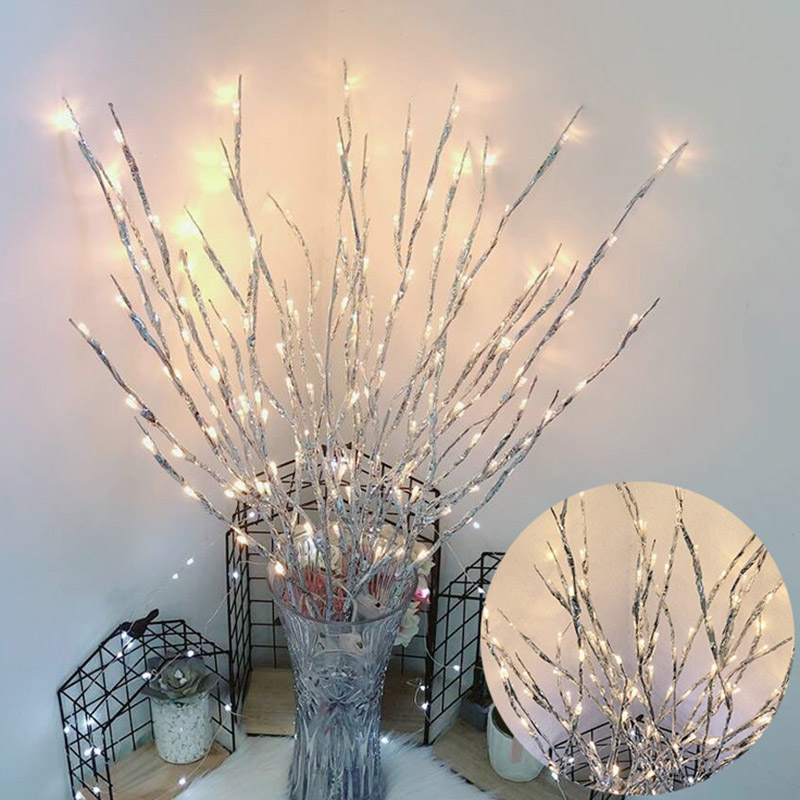 Simulation Tree Branch 20 LED Light String Christmas Decorations For Home Christmas Tree Decorations New Year's Decor