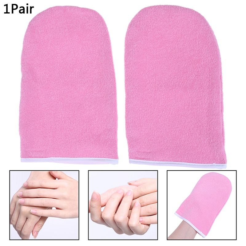 2Pcs Nail Gloves SPA Cotton Professional Wax Warmer Gloves Protection Paraffin Wax Protection Hand Gloves Warmer Wax Heater