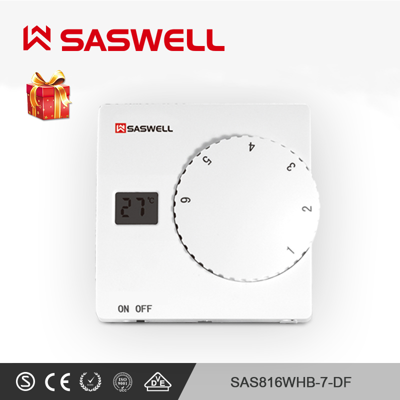 SASWELL Smart Thermostat Temperature Controller Boiler Room Temperature Thermostat No-weekly Programmable