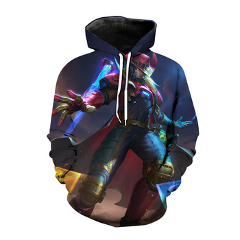 2021 new autumn League of Legends game hoodie 3D printed men's and women's sportswear super hot cool e-sports game jacket jacket 2