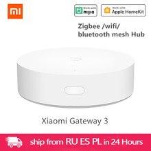 Xiaomi Mijia – Hub multimode Gateway 3 pour maison intelligente, capteur d'humidité corporelle, contrôle vocal, fonctionne avec ZigBee, WIFI, Bluetooth, maille