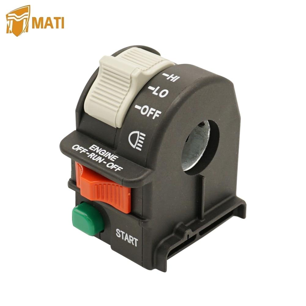 Mati esquerda interruptor de parada de luz do guiador para polaris outlaw 450 500 525 2007-2011 predator 500 2003-2007 substituição 4011442