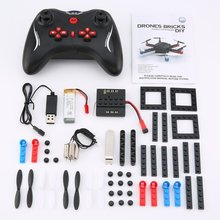 L222 Mini Micro RC drone Building Block 3D Bricks Quadcopter Drone Aircraft UAV with Flips Headless Mode DIY for Beginner Gift