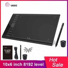 UGEE M708 שדרוגי גרפי Tablet 8192 רמת דיגיטלי ציור לוח אלקטרוני אמנות ציור לוח 10x6 אינץ פעיל אזור