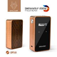 Cleanrance !! E Cigarette Vape Mod Snowwolf 200W C Dual 18650 Battery Touch Sreen Box Mod With max 235 Watt Mod Box vs LUXE