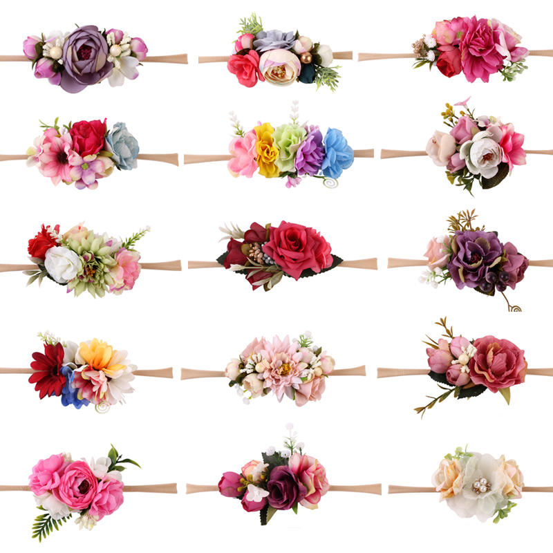 Newborn Photography Props Accessories Kids Gift Flowers Headwear Baby Headband Infant Photo Props Girl Headbands Baby Hairbands