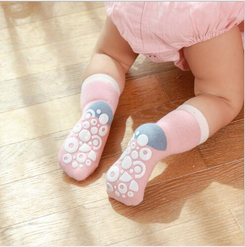 5pairs 0-5Year Autumn and winter new children's kids boy girl socks dispensing non-slip baby floor socks 3