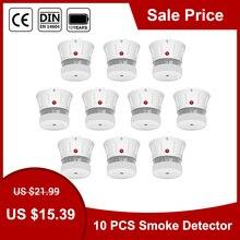 CPVan FSD002 Mini Smoke Detector CE EN14604 Smoke Alarm 10 Years Battery Detector Smoke Sensor Detector Photoelectric Sensor
