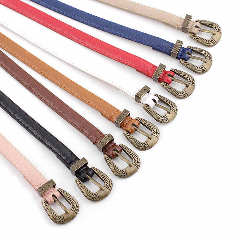 แกะสลักหัวเข็มขัดโลหะสีทอง Rivet เข็มขัดสีดำ ROCK Punk Retro เข็มขัดผู้หญิงกางเกงยีนส์เข็มขัดผู้หญิงกางเกงเข็มขัด